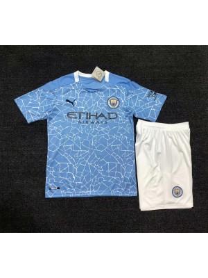 Camiseta Manchester City 1a Equipacion 20/21 Niños