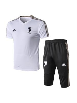 Camisas + Shorts Juventus 2018-2019 Blanco