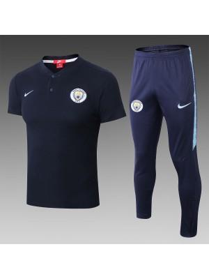 2018-2019 Manchester City Polo Chándales Azul