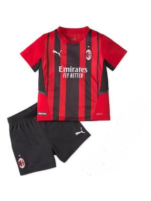 Camiseta Del AC Milan 2021-2022 Niños