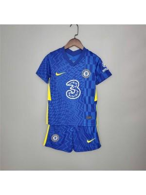 Camiseta De Chelsea 1a Equipacion 2021-2022 Niños