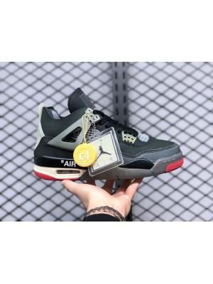 """Off-White x Air Jordan 4 """"Bred"""""""