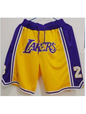 Pantalones cortos de los Lakers
