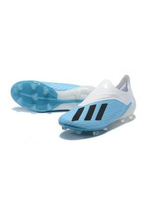 Adidas X 18+ FG Azul Blanco