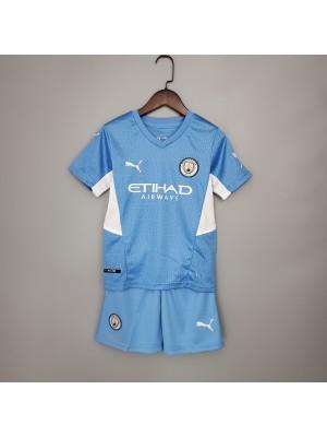 Camiseta Manchester City 1a Equipacion 21/22 Niños