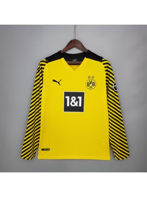 Camiseta Borussia Dortmund 1a Equipacion 2021/2022 Manga larga