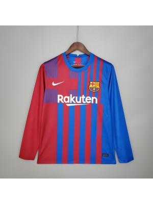 Camiseta Barcelona Primera Equipacion 2021/2022 Manga larga