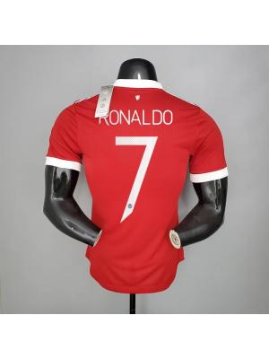 Manchester United 1a Equipacion 21/22 Versión de jugador Ronaldo 7