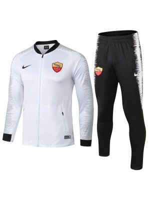 2018/2019 Conjunto de chaqueta AS Roma Blanco