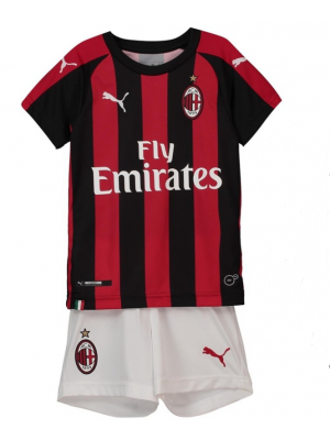 Camiseta Del AC Milan 18/19 Niños