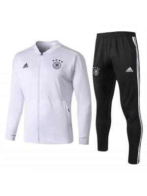 Conjuntos de chaqueta de fútbol de Alemania blanco 2018-2019