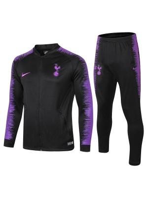 Conjuntos de chaqueta Tottenham Hotspur negro 2018/2019