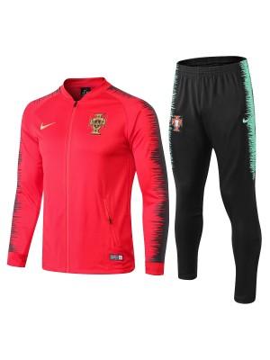 2018-2019 Portugal Conjuntos de chaqueta Rojo