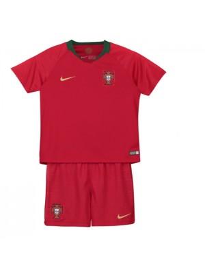 Camisas de Portugal 1a equipación 2018 Niños