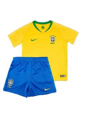 Camisas de Brasil 1a equipación 2018 Niños